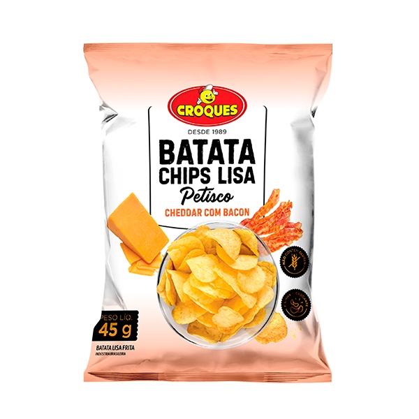 Batata Chips Lisa Cheddar com Bacon 45g