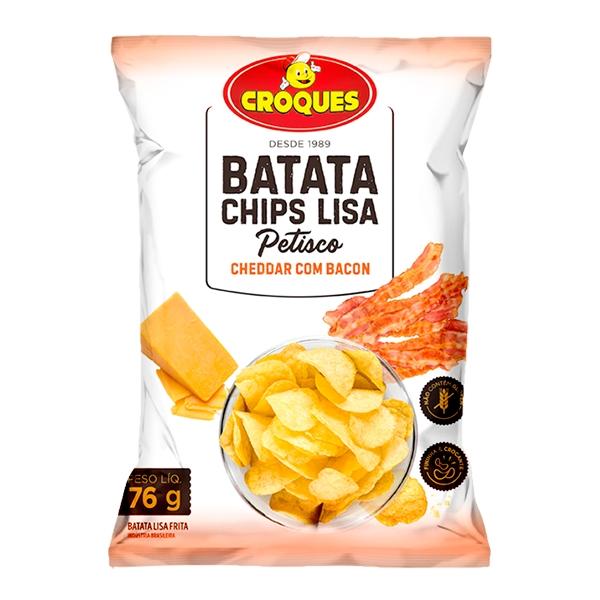 Batata Chips Lisa Cheddar com Bacon 76g