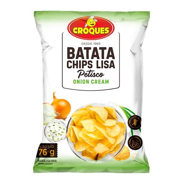 Batata Chips Lisa Onion Cream 76g