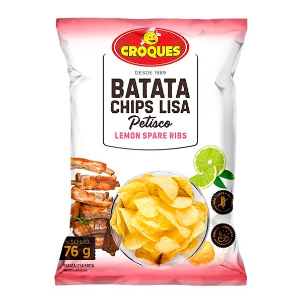 Batata Chips Lisa Lemon Spare Ribs 76g