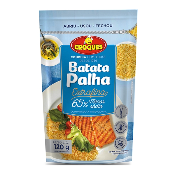 Batata Palha Extrafina 65% Menos Sódio 120g