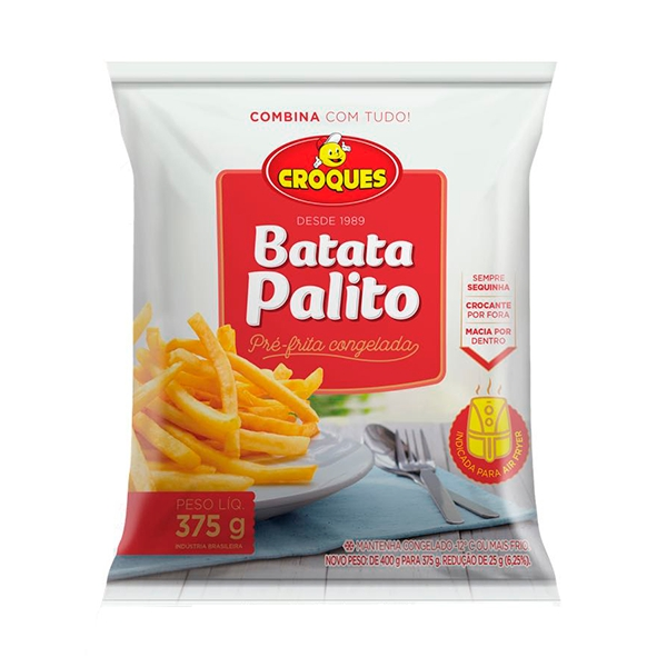 Batata Pré-Frita Congelada 375g